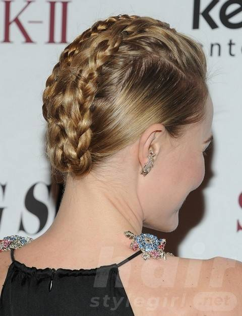 2014 Kate Bosworth Hairstyles: Braided Updos