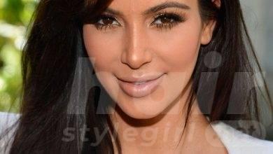Kim Kardashian Hair styles: 2014 Dark Long Straight Haircut with Bangs