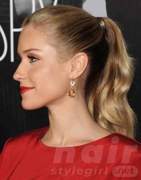 2014 Kristin Cavallari Hairstyles: High Ponytail Hairstyle