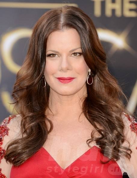 2014 Marcia Gay Harden Hairstyles: Center Part Hairstyle for Long Hair