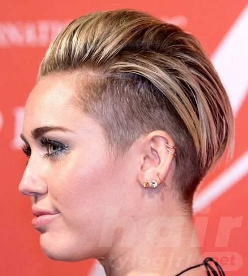 2014 Miley Cyrus Hairstyles: Trendy Short Haircut