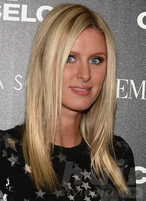2014 Nicky Hilton Hairstyles: Medium Straight Haircut
