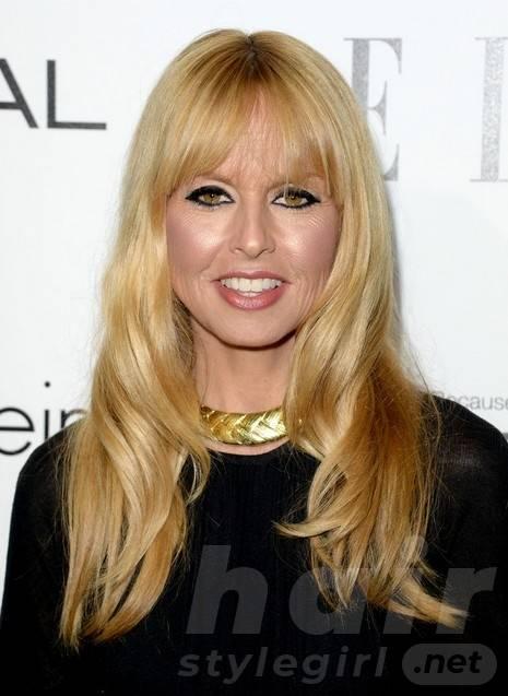 2014 Rachel Zoe Hairstyles: Long Hair with Short Bangs