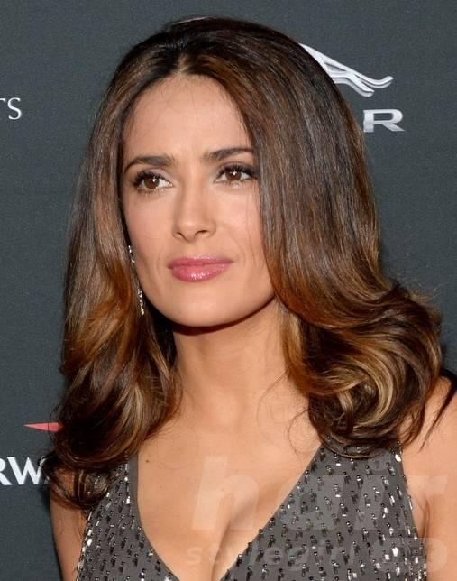 2014 Salma Hayek Hairstyles: Shoulder-length Hair