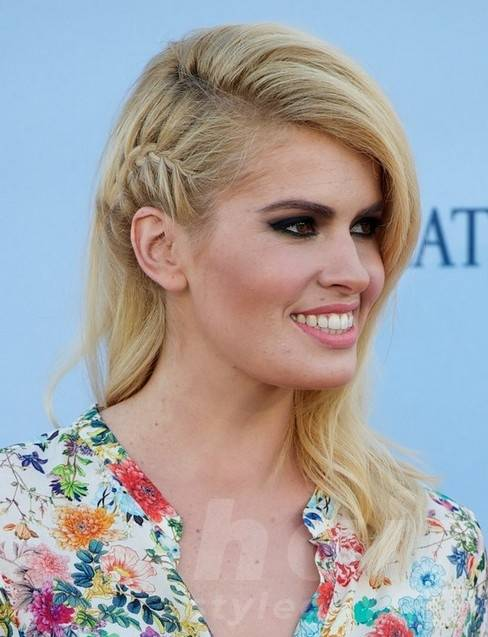 Adriana Abenia Long Hairstyles: Blonde Hair