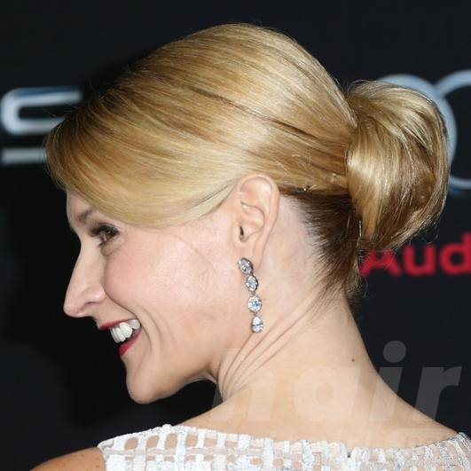 Andrea Powell Long Hairstyles: Easy Bun Updos 2014