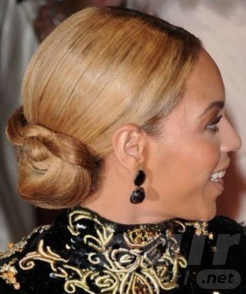 Beyonce Hairstyles: Classy Braided Classic Bun for Elegant Women