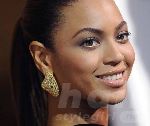 Beyonce Hairstyles: Fascinating Ponytail for Oval face