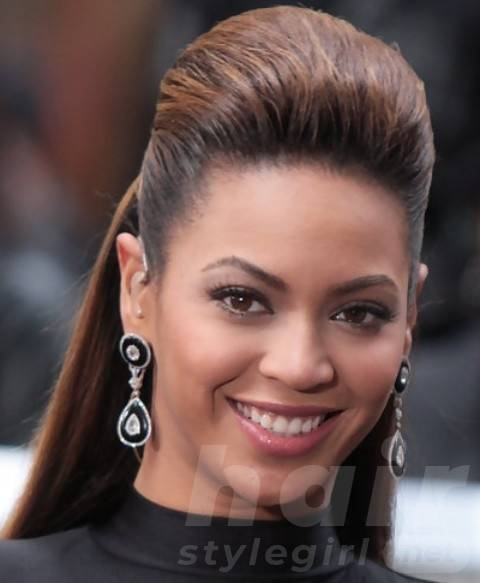 Beyonce Hairstyles: High-fashioned Half-up Half-down Hairdo for Older Women