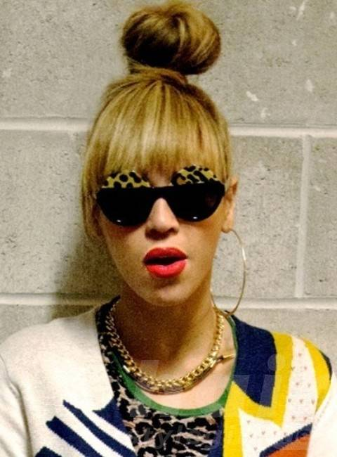 Beyonce Hairstyles: Rock Style Hair Knot