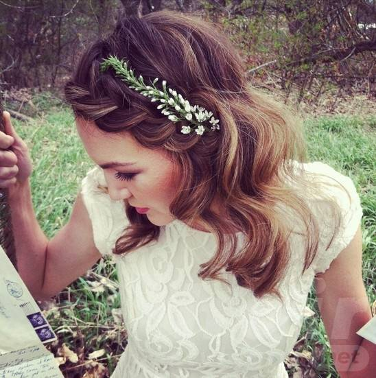 Braided Bangs for Wedding Hairstyle