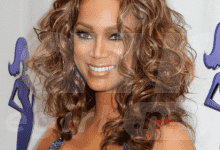 Celebrity Long Curly Ombre Hairstyle