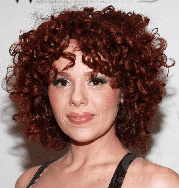 Cute Short Colored Curly Hairstyle