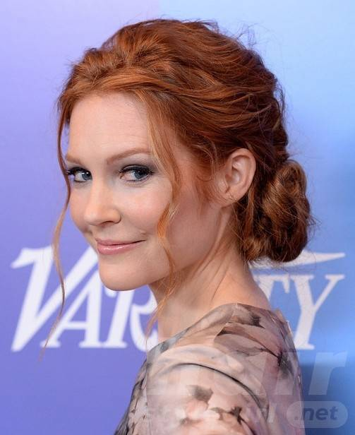 Darby Stanchfield Long Hairstyles: Messy Updo Hairstyles