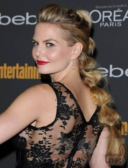 Jennifer Morrison Long Hairstyles: Twisted Ponytail Hair Style