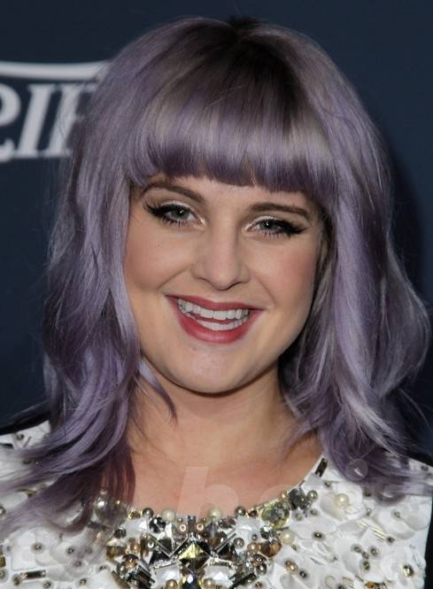 Kelly Osbourne Long Hairstyles 2014: Hairstyle with Blunt Bangs