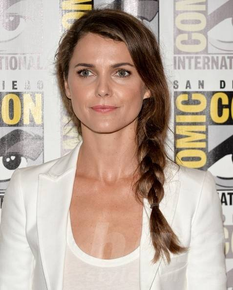 Keri Russell Long Hairstyles: Side Braided Hair Style