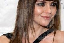 Long Straight Brunette Chopped Hair with Blunt Bangs