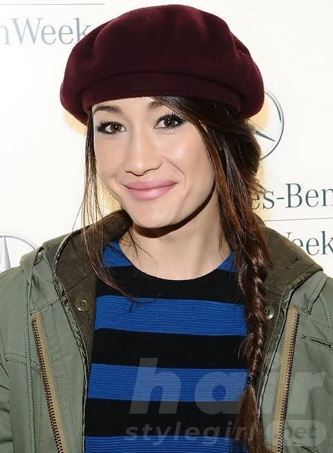 Maggie Q Hairstyles: Adorable Braided Hairstyle