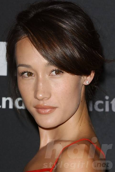 Maggie Q Hairstyles: Sexy Pinned Updo