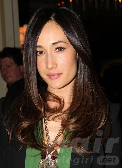 Maggie Q Hairstyles: Sophisticated Long Straight Cut