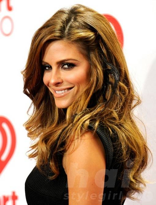 Maria Menounos Long Hairstyles: 2014 Wavy Hairstyles for Thick Hair