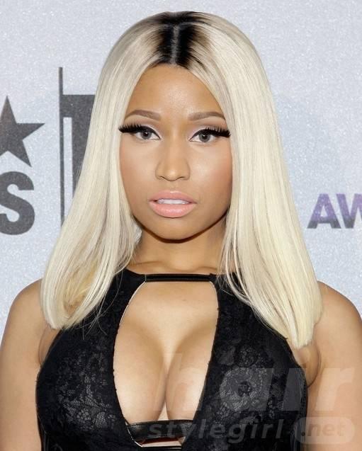 Nicki Minaj Long Hairstyles 2014: Smooth Straight Hair