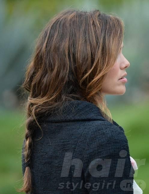 Rachel Bilson Long Hairstyles: Casual Loose Braid