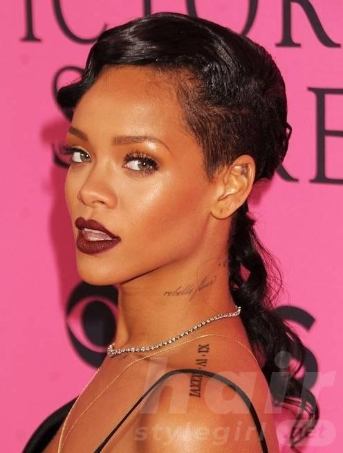Rihanna Long Hairstyles: Curly Hair