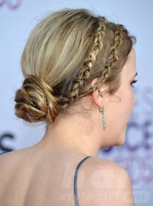 Taylor Spreitler Long Hairstyles: 2014 Braided Updos