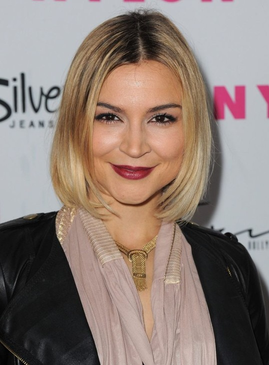 Bob Hairstyle for 2014: Celebrity Center Parted Short Straight Hairstyle