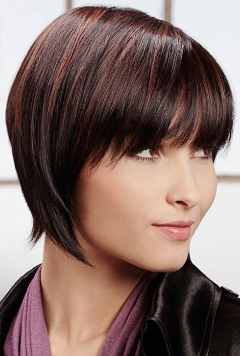 Short Straight Hairstyle for Heart Face Shape