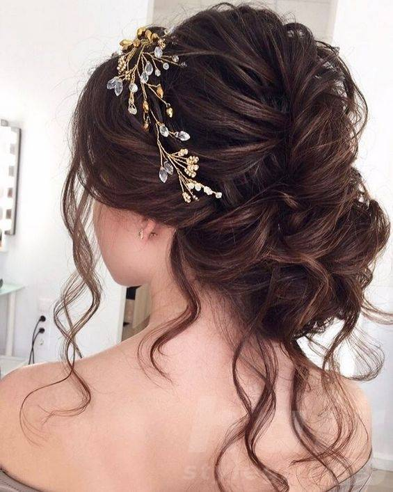 Loose Updo with Accessories