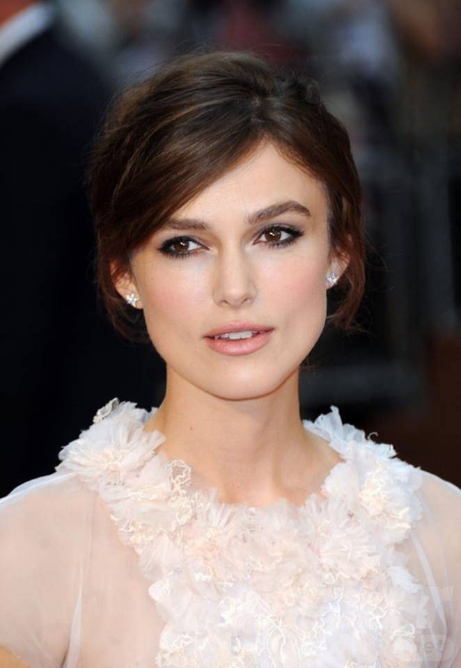 Keira Knightley Hair - Black Up-do Hairstyle