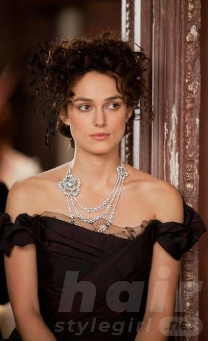 Keira Knightley Hair - Long Black Curly Hairstyle