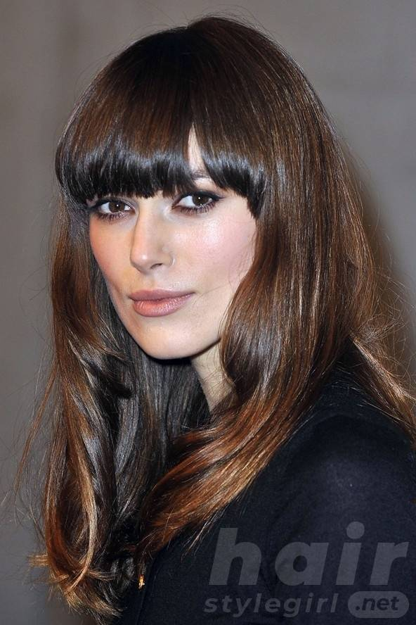 Keira Knightley Hair - Long Black Hairstyle With Bangs