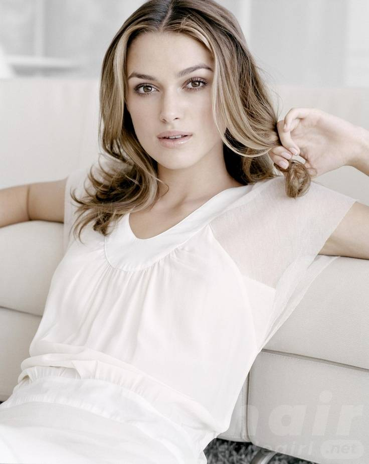 Keira Knightley Hair - Long Wavy Ombre Hairstyle