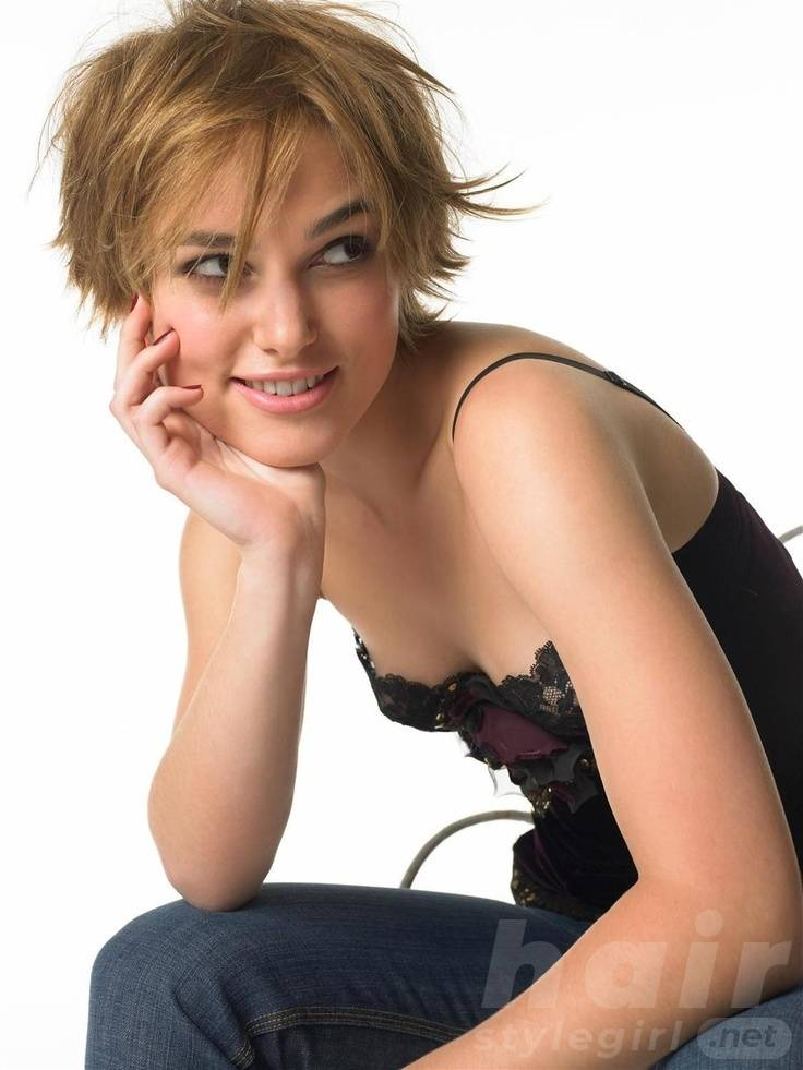 Keira Knightley Hair - Short Shaggy Hairstyle