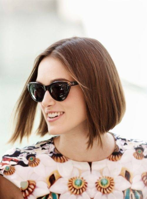 Keira Knightley Hair - Straight Bob Hairstyle
