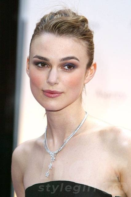 Keira Knightley Hair - Swept Back Hairstyle