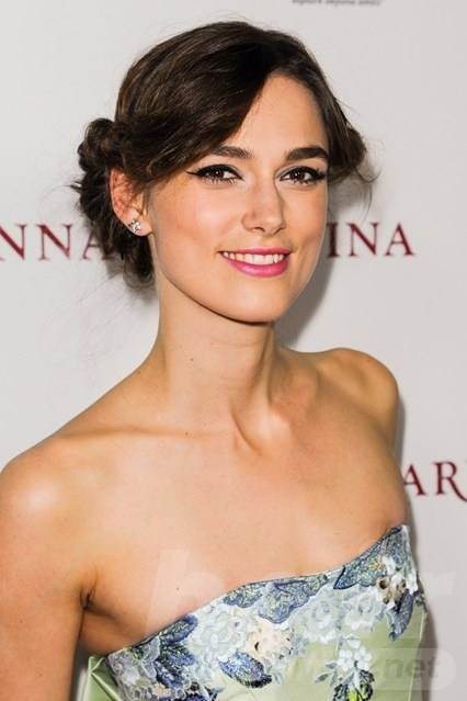Keira Knightley Hair - Twisted Up-do Hairstyle