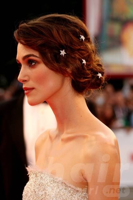 Keira Knightley Hair - Up-do Hairstyle With Clips
