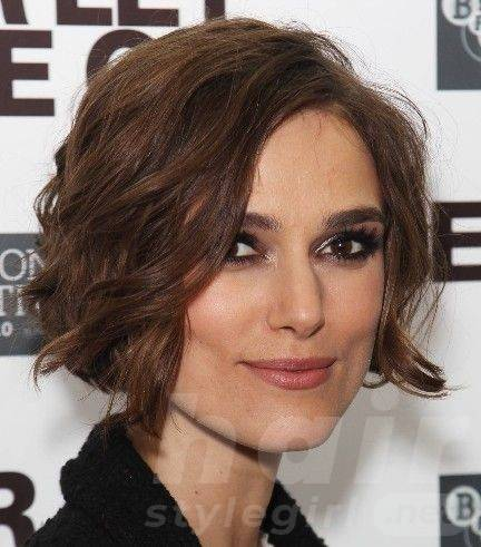 Keira Knightley Hair - Wavy Bob Hairstyle