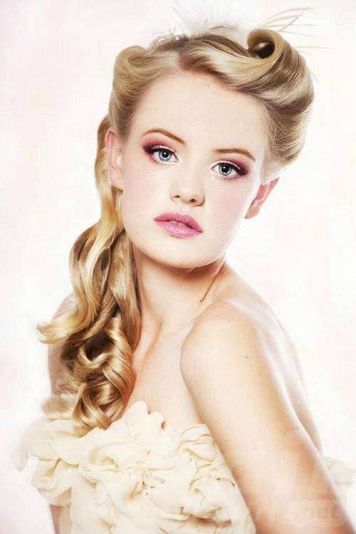 bridesmaid hairstyles for long hair pinterest