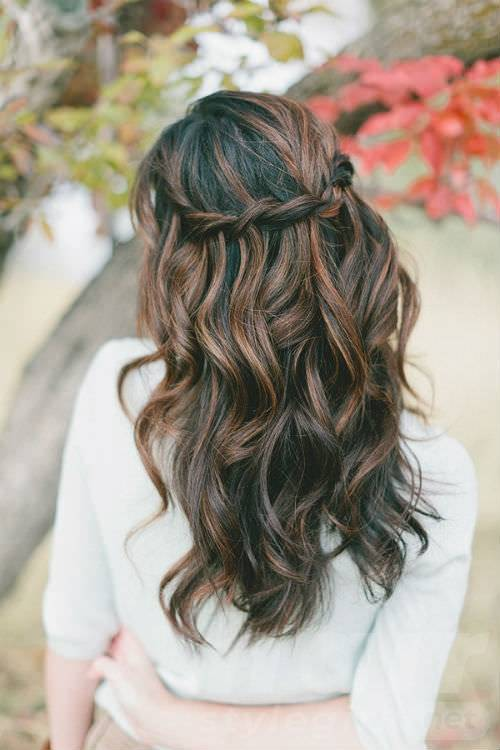cool bridesmaids hairstyles for long hair