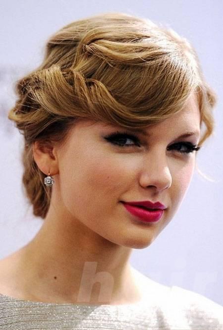 Pinned Curls for Short Hair
