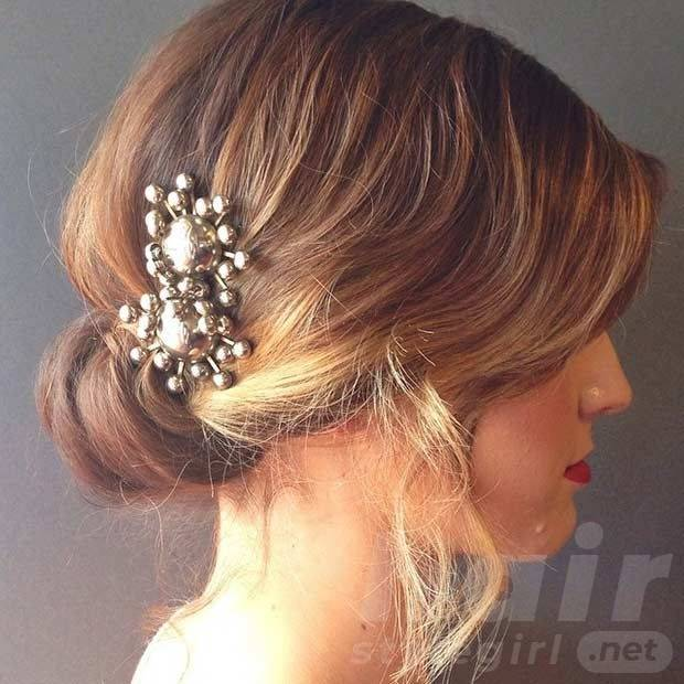 Most Glamorous Wedding Hairstyle for Short Hair