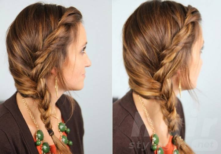 Cute Side Braided Hairstyle for Girls - Easy Loose Braid for Long Hair