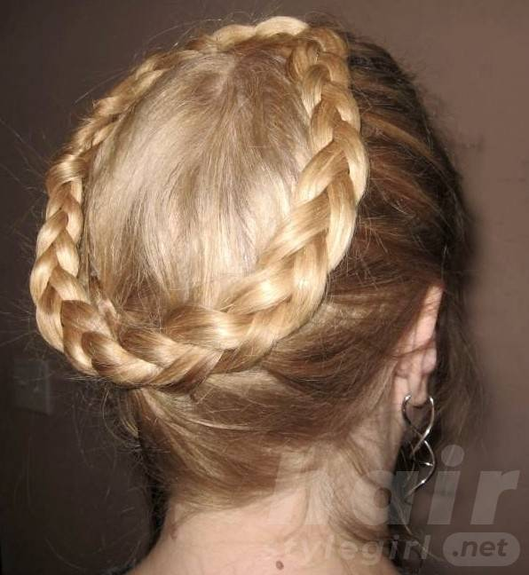Elegant Crown Braid - Braided Hairstyels for Wedding, Prom
