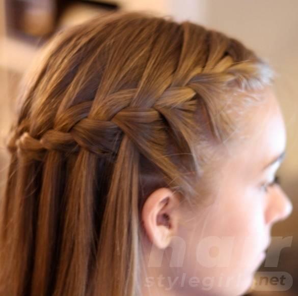Waterfall Braid - Cute Braided Hairstyle for 2014